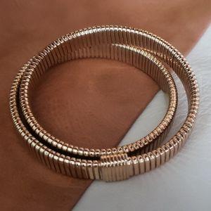 J Crew Rose Gold Double Stretch Bracelet